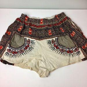 New Romantics Free People Aztec/Boho Shorts